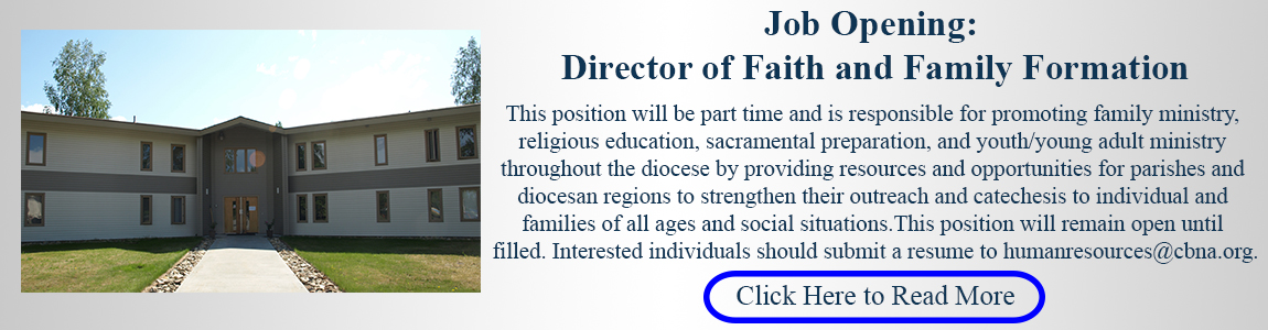 Job Opening: Director of Faith and Family Formation